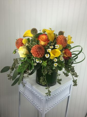 Dahlias and Callas