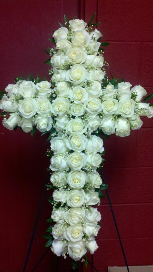 Serene White Sympathy Cross