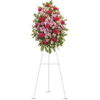 Pink Tribute Spray by Teleflora