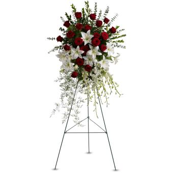 Lily and Rose Tribute Spray by Teleflora