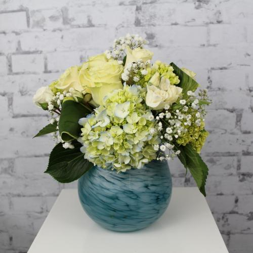 Blue Art Glass Bouquet