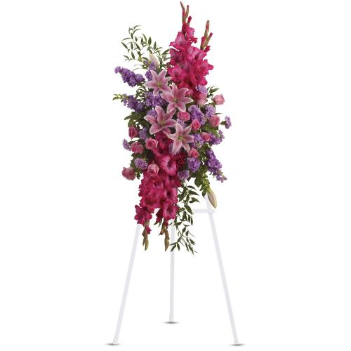 Touching Tribute Spray by Teleflora